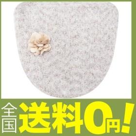 センコー SDS ドゥースメランジェ 花モチーフ付き トイレふたカバー グレー 温水洗浄・暖房用 お部屋で楽しむ