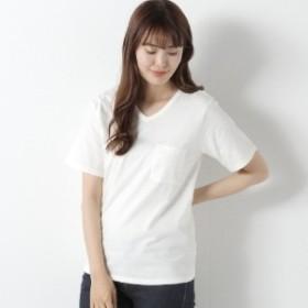 【汗染み防止&抗菌防臭】ポケット付きVネック半袖Tシャツ