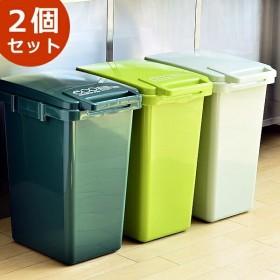 ゴミ箱 おしゃれ 分別 45L 2個セット キッチン 屋外 フタ付き ダストボックス 45リットル 連結 シンプル sabiro