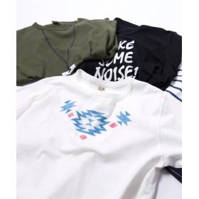 ジーアールエヌ 30柄プリント半袖Tシャツ [ネイティブ] ユニセックス プラチナ 3(L) 【grn】