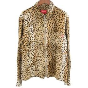 SUPREME(シュプリーム)17AW Cheetah Pile Zip Up Shirt レオパード柄ジップアップレオパードジャケット