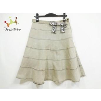 トゥービーシック スカート サイズ40 M レディース 美品 グレー デニム/リボン/ビジュー 値下げ 20190912