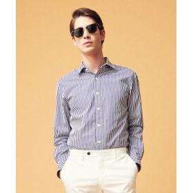 トゥモローランド ブリティッシュポプリン セミワイドカラーシャツ メンズ 68ネイビー系 L 【TOMORROWLAND】