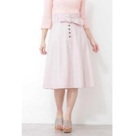 プロポーションボディドレッシング(PROPORTION BODY DRESSING)/ウエストリボンカラーツイルフレアスカート
