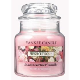 YANKEE CANDLE ヤンキーキャンドル ジャーキャンドルSサイズ フレッシュカットローズ