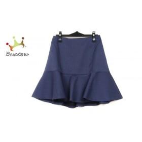 ニジュウサンク 23区 スカート サイズ40 M レディース 美品 ネイビー たぐ付き 新着 20190809