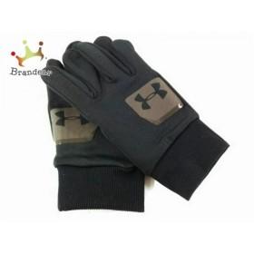 アンダーアーマー UNDER ARMOUR 手袋 レディース 黒×ダークグレー 化学繊維×ラバー 新着 20190608