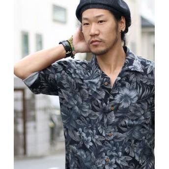 マルカワ レーヨン素材 アロハシャツ メンズ 柄5 L 【MARUKAWA】