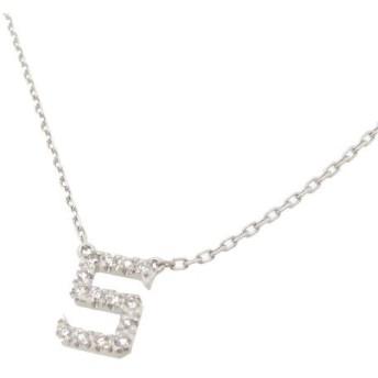 アーカー ダイヤモンド ネックレス S イニシャル ダイヤ K18WG 【ジュエリー】