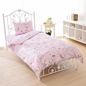Sanrio(サンリオ) 寝具カバーセット ピンク 枕カバー:43×63cm、掛け布団カバー:150×210cm、シーツ:100×200×25cm(マ