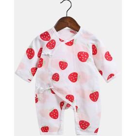 その他ルームウェア・パジャマ - PlusNao ロンパース ベビー 新生児 赤ちゃん 女の子 男の子 長袖 肌着 動物 アニマル 自然 花 イチゴ 前開き インナーウェア かわいいおしゃれ