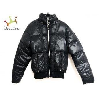 トミーヒルフィガー TOMMY HILFIGER ダウンジャケット サイズS メンズ 美品 黒×白 冬物 新着 20190608
