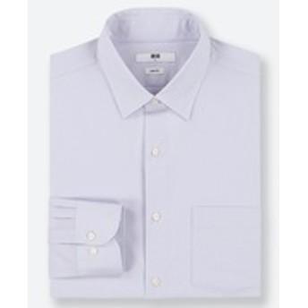 ファインクロスストレッチスリムフィットストライプシャツ(レギュラーカラー・長袖)