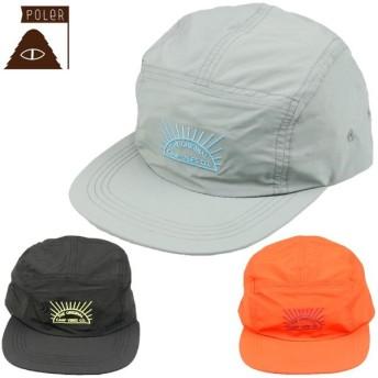日本正規店 POLER ポーラー メンズ 帽子 55100016 RISING SUN 5PANEL NYLON CAP 5パネルキャップ