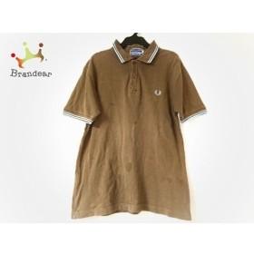 フレッドペリー FRED PERRY 半袖ポロシャツ サイズS レディース ダークブラウン   スペシャル特価 20190915