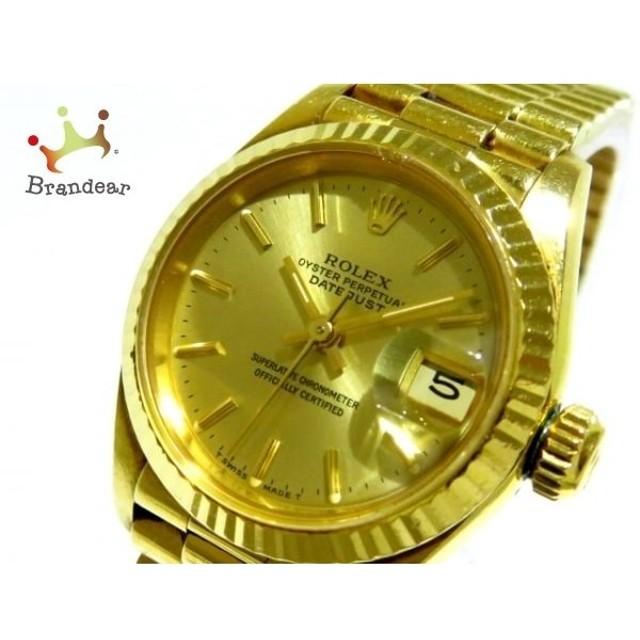 d6be64db15 ロレックス ROLEX 腕時計 デイトジャスト 69178 レディース 金無垢/34コマ ゴールド 新着 20190608