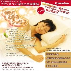 高級仕様フランスベッド×Restile 低反発枕 竹炭 緑茶 まくら ピロー 安眠 寝具 高級枕 最高級