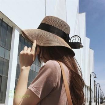 帽子 UV つば広 おしゃれ 日よけ たためる キャンプ 大人 肌触り抜群 リボン 折りたたみ 紫外線対策 日焼け止め UVカットレディース 日焼