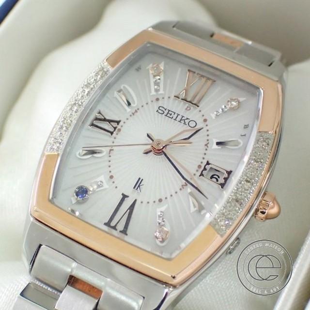 30d448aeca 美品 SEIKO セイコー SSVW088 LUKIAYASEルキアヤセ 限定3000本モデル ダイヤモンドベゼル ソーラー電波腕時計