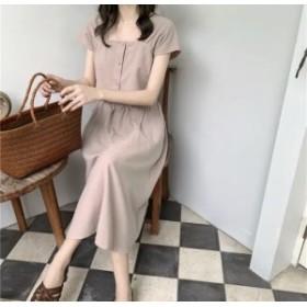 全3color セットアップ トップス スカート ロング スクエアカラー かわいい スタイルセット 色んなコーデ 着回し 贅沢なデザイン 高見え