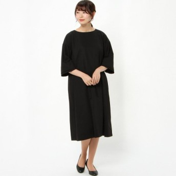 フォーマル レディース 喪服 礼服 ブラックフォーマル スーツ フォーマルデュアルワンピース 「ブラック」