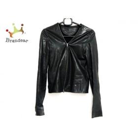 ルシェルブルー LE CIEL BLEU ブルゾン サイズ38 M レディース 美品 黒 ジップアップ/レザー 新着 20190608