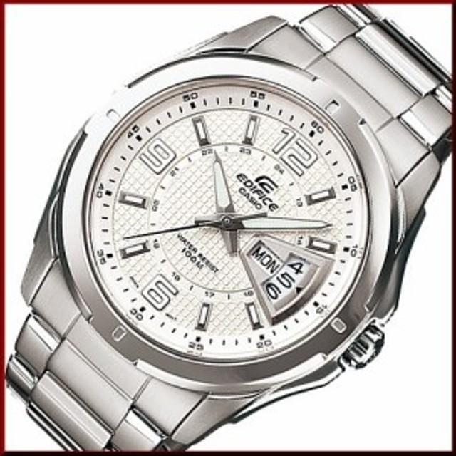 58bc80a519 カシオ/エディフィス【CASIO/EDIFICE】コラムデイト メンズ腕時計 シルバー文字盤 メタル