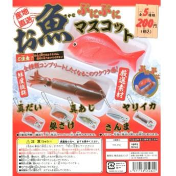 お魚ぷにぷにマスコット 産地直送 スクイーズ 全5種セット
