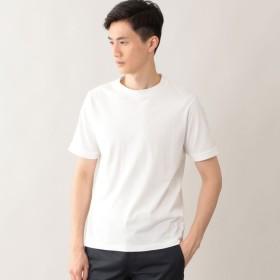 SALE【ポール・スチュアート メン(Paul Stuart MEN)】 ピケ半袖Tシャツ ホワイト