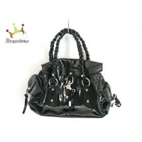 フランチェスコ・ビアジア FRANCESCO BIASIA ハンドバッグ 黒 エナメル(レザー)   スペシャル特価 20190918