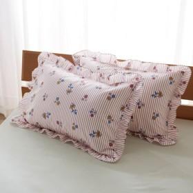 布団カバー シーツ 枕カバー ピローケース ディズニー フリルつき枕カバー2枚セット ラプンツェル 約43×63cm用