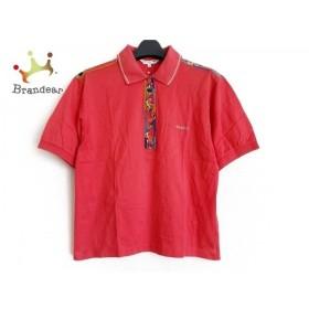 レオナール LEONARD 半袖ポロシャツ サイズM レディース レッド×マルチ SPORT  値下げ 20190803