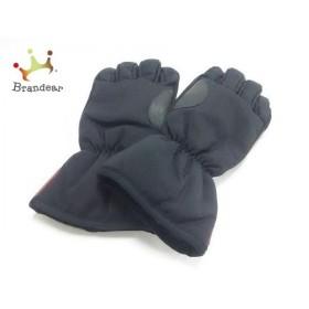 プラダスポーツ PRADA SPORT 手袋 メンズ 美品 黒 ナイロン×ポリエステル×レザー 新着 20190608