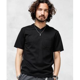 (nano・universe/ナノ・ユニバース)Anti Soaked ヘビーVネックTシャツ/メンズ ブラック