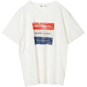 【オンワード】 SEVENDAYS=SUNDAY(セブンデイズ サンデイ) ・メリーランドBOXプリントTシャツ White M メンズ 【送料無料】