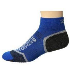 ゼンサー メンズ 靴下 アンダーウェア Grit Running Socks (Ankle) Sporty Blue