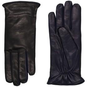《期間限定セール開催中!》EMPORIO ARMANI レディース 手袋 ブラック S 羊革(ラムスキン) 100%