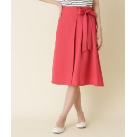 Couture Brooch(クチュールブローチ) 【WEB限定サイズ(S・LL)あり】ウエストリボンリネン調スカート
