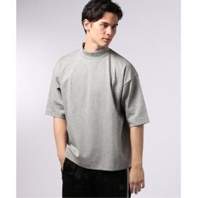 EDIFICE LA BOUCLE / ラブークル ポンチワイド モックネック Tシャツ グレー 46