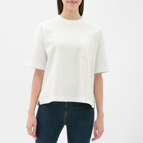(GU)ヘビーウェイトT(5分袖) OFF WHITE L