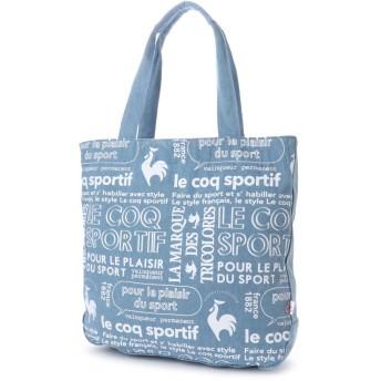 ルコックスポルティフ le coq sportif ルコックプリント帆布トート (ブルー)