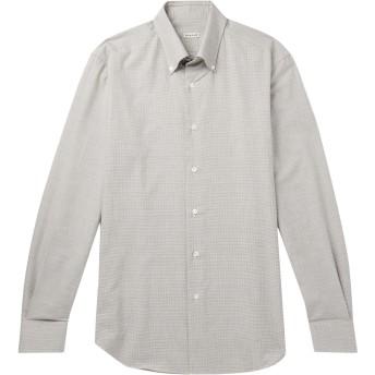 《セール開催中》CARUSO メンズ シャツ グレー 45 コットン 100%