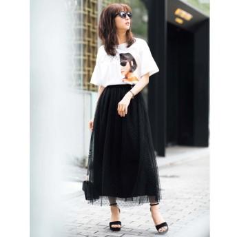 ジーラ ゆるシルエットデザインTシャツ レディース ホワイト M 【GeeRa】