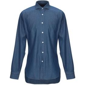 《期間限定 セール開催中》BARBA Napoli メンズ デニムシャツ ブルー 39 コットン 100%