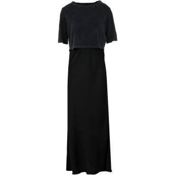 《セール開催中》ALLSAINTS レディース ロングワンピース&ドレス ブラック M ポリエステル 96% / ポリウレタン 4% / コットン BENNO TEE DRESS
