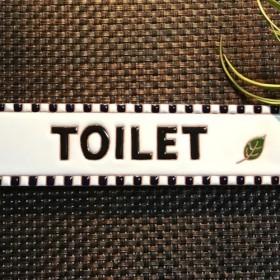メッセージタイルToilet 200-50 mosic black