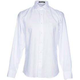 《期間限定 セール開催中》ROBERTO CAVALLI メンズ シャツ ホワイト 40 コットン 100%