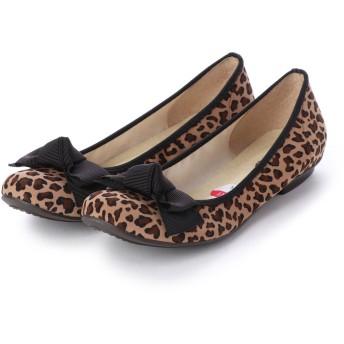リーカ RiiiKa リボンフラットパンプス (leopard)