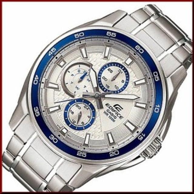 3e539e14b8 カシオ/エディフィス【CASIO/EDIFICE】マルチファンクション メンズ腕時計 シルバー/ブルー文字
