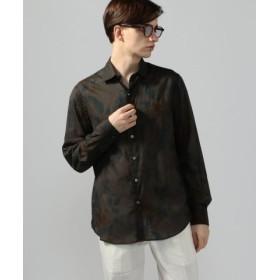 (TOMORROWLAND/トゥモローランド)ストールプリント セミワイドカラーシャツ/メンズ 58ダークグリーン系 送料無料